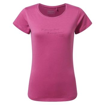 Miri Short Sleeved T-Shirt - Raspberry Quote