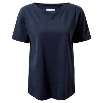 NosiBotanical Salma Short Sleeved Top - Blue Navy