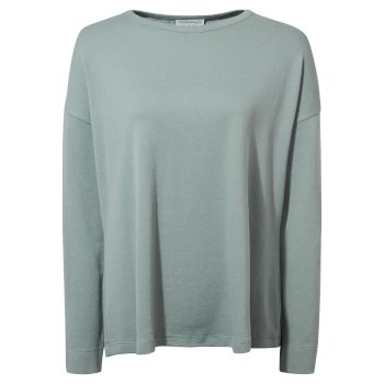 Forres Long Sleeved Top - Stormy Sea Marl