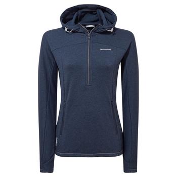 Dynamic Hooded Half Zip - Blue Navy Marl