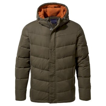 Rigby Downlike Hooded Jacket - Woodland Green