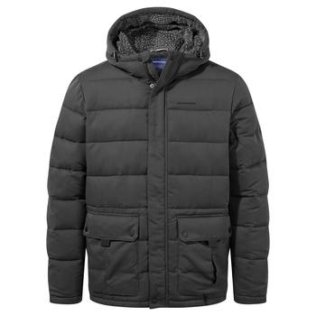 Trillick Downlike Hooded Jacket - Black Pepper