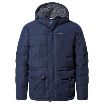Trillick Downlike Hooded Jacket - Blue Navy