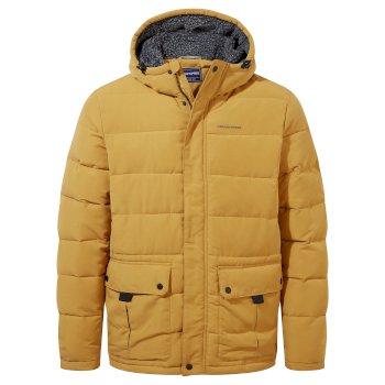 Trillick Downlike Hooded Jacket - Dark Butterscotch