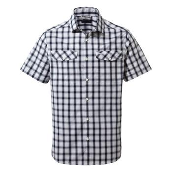 Passos Short Sleeve Shirt - Blue Navy Check