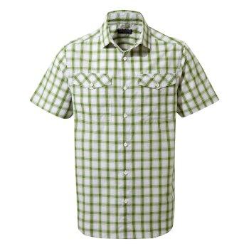 Passos Short Sleeve Shirt - Agave Green Check