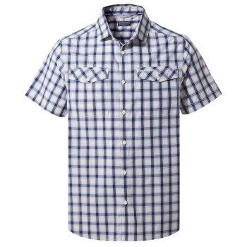 Passos Short Sleeve Shirt - Lapis Blue Check