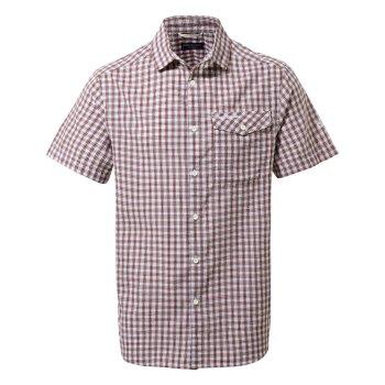 Limeira Short Sleeve Shirt - Sriracha Check