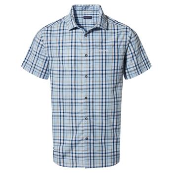 Vernon Short Sleeved Shirt - Harbour Blue Check
