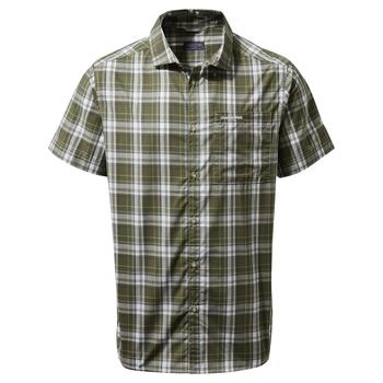 Vernon Short Sleeved Shirt - Parka Green Check
