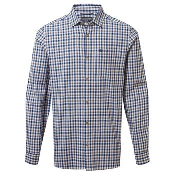 Harvey Long Sleeved Check Shirt - Blue Navy Check