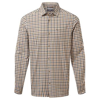 Harvey Long Sleeved Check Shirt - Parka Green Check