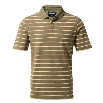 Bruno Short-Sleeved Polo - Greenwich Green Stripe