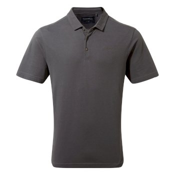 Raul Short Sleeve Polo - Dark Grey