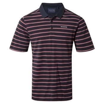 Stanton Short Sleeved Polo - Blue Navy Stripe
