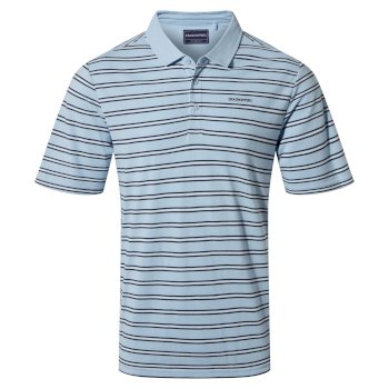 Stanton Short Sleeved Polo - Harbour Blue Stripe
