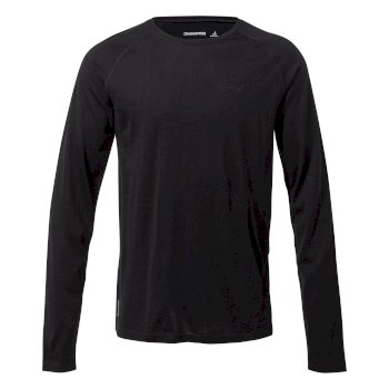 Men's Merino Crew Neck Long-Sleeved Baselayer II - Black