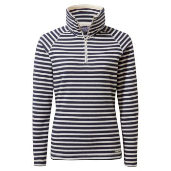 Natalia Half Zip - Blue Navy / Seasalt Stripe