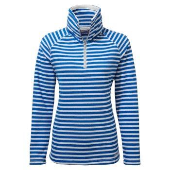 Natalia Half Zip - Persian Blue Stripe