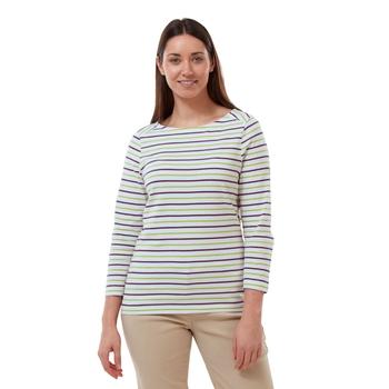 Blanca Long Sleeve Top - Lime Sorbet / Blackcurrant Stripe