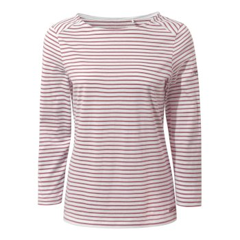 Blanca Long Sleeve Top - Cassis Stripe