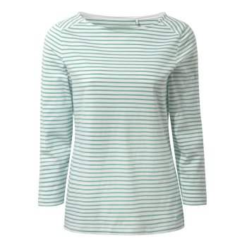 Blanca Long Sleeve Top - Sea Breeze Stripe