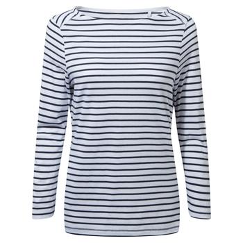 Blanca Long Sleeve Top - Blue Navy / Optic White Stripe