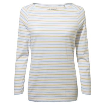 Blanca Long Sleeve Top - Harbour Blue / Flax Yellow Stripe