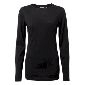 Women's Merino Crew Neck Long-Sleeved Baselayer II - Black